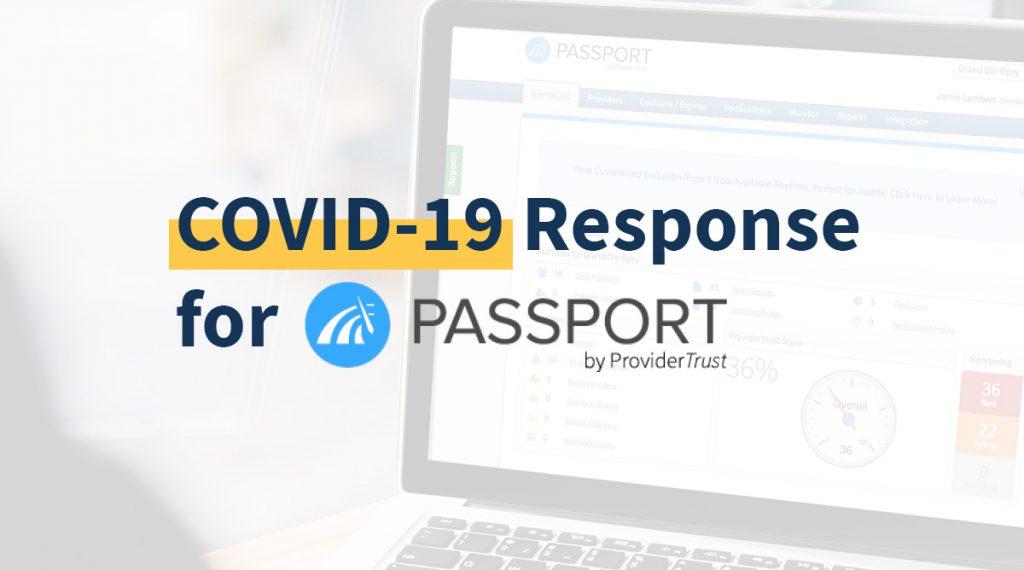 Covid-19 Response for Passport