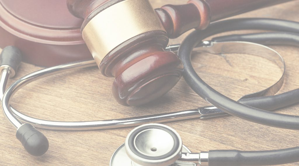 a stethoscope and gavel