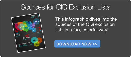 Sources for OIG Exclusion lists. Download the infographic now!