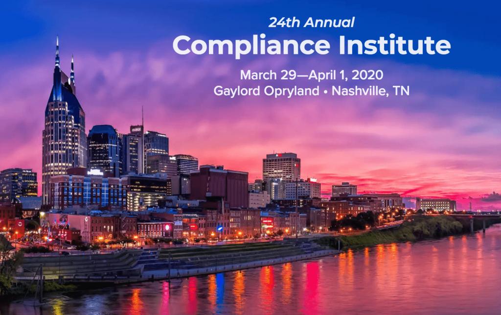 HCCA Compliance Institute 2019 Nashville ProviderTrust
