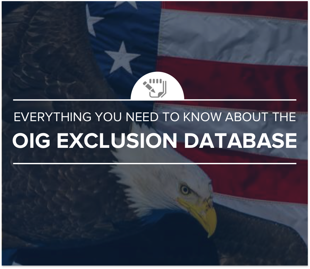 Everything you need to know about the OIG exclusion database