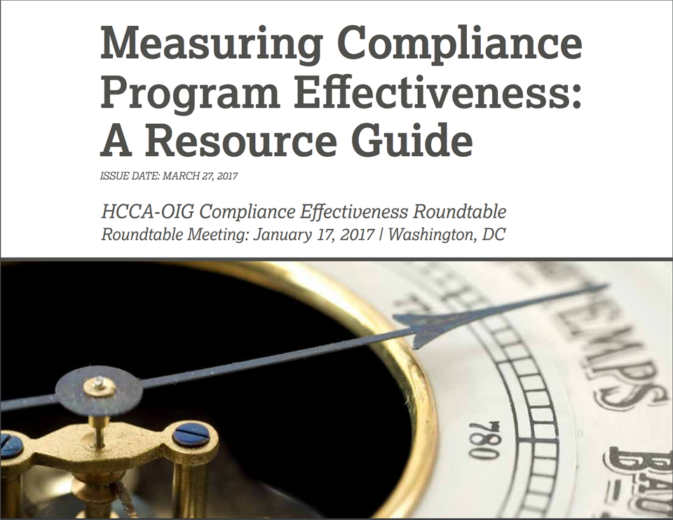 OIG Measuring Compliance Program Resource Guide