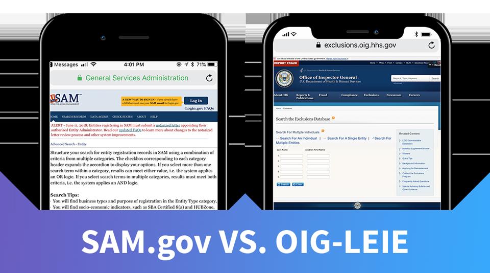 Sam.gov versus OIG-LEIE