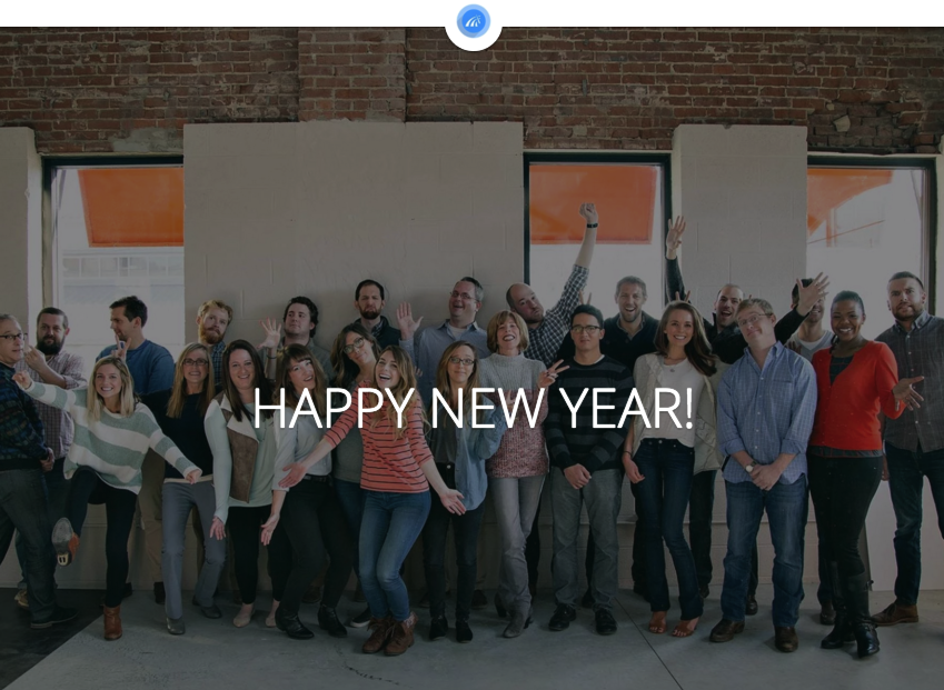 """Photo of the ProviderTrust team with """"Happy New Year"""" overlayed on top"""