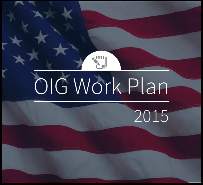 OIG Work Plan 2015