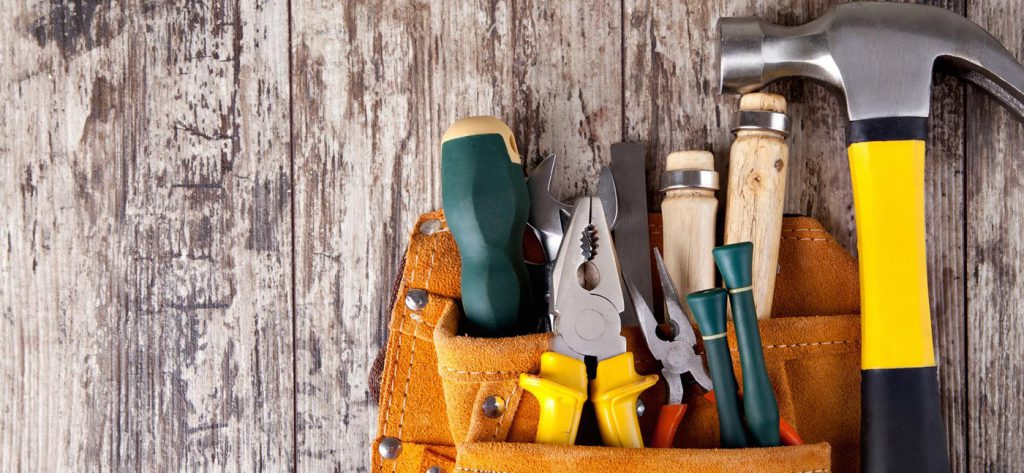 tools laying on a table