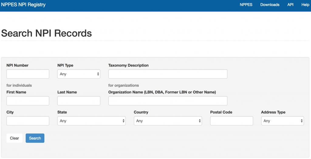 Search NPI NPPES ProviderTrust Blog