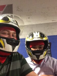 Todd and Ying at Music City Indoor Karting